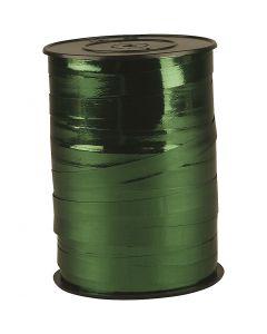 Kräuselband, B: 10 mm, Glänzend, Metallic-grün, 250 m/ 1 Rolle