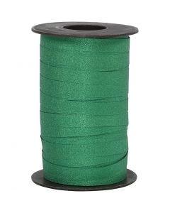Kräuselband, B: 10 mm, Glitter, Grün, 100 m/ 1 Rolle