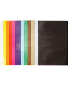 Glanzpapier, 24x32 cm, 80 g, Sortierte Farben, 50 Bl./ 1 Pck.
