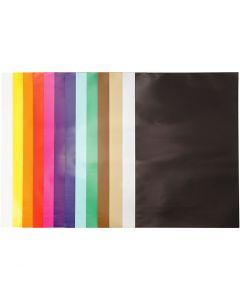 Glanzpapier, 32x48 cm, 80 g, Sortierte Farben, 100 Bl./ 1 Pck.