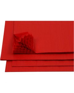 Harmonika-Papier, 28x17,8 cm, Rot, 8 Bl./ 1 Pck.