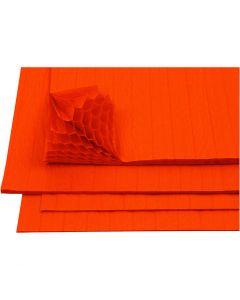 Harmonika-Papier, 28x17,8 cm, Orange, 8 Bl./ 1 Pck.
