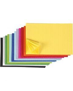 Wabenpapier - Sortiment, 28x17,8 cm, Sortierte Farben, 72 Stck./ 1 Pck.