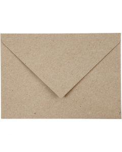 Recycling-Kuverts, Umschlaggröße 11,5x16 cm, 120 g, Beige, 50 Stck./ 1 Pck.