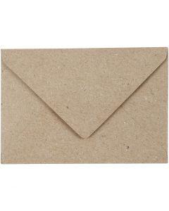 Recycling Umschläge, Umschlaggröße 7,8x11,5 cm, 120 g, Beige, 50 Stck./ 1 Pck.