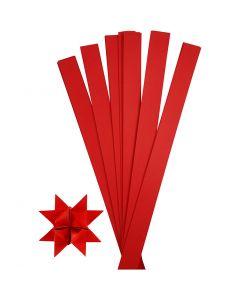 Papierstreifen für Fröbelsterne, L: 73 cm, D: 11,5 cm, B: 25 mm, Rot, 100 Streifen/ 1 Pck.