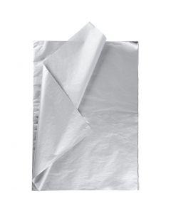 Seidenpapier, 50x70 cm, 14 g, Silber, 25 Bl./ 1 Pck.