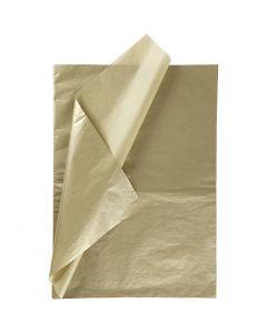 Seidenpapier, 50x70 cm, 14 g, Gold, 25 Bl./ 1 Pck.