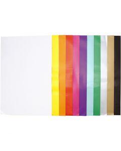 Glanzpapier, 32x48 cm, 80 g, Sortierte Farben, 11x25 Bl./ 1 Pck.