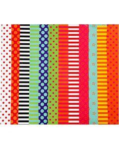 Glanzpapier, Pattern, 24x32 cm, 80 g, Sortierte Farben, 50 Bl. sort./ 1 Pck.