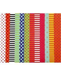 Glanzpapier, Pattern, 32x48 cm, 80 g, Sortierte Farben, 100 Bl. sort./ 1 Pck.