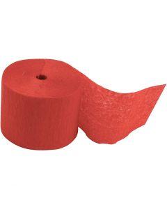Krepppapier-Streifen, L: 20 m, B: 5 cm, Rot, 20 Rolle/ 1 Pck.