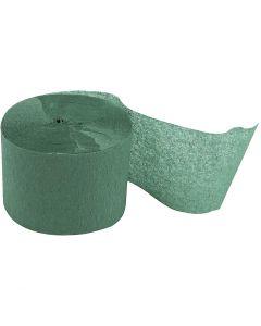 Krepppapier-Streifen, L: 20 m, B: 5 cm, Grün, 20 Rolle/ 1 Pck.