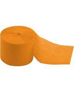 Krepppapier-Streifen, L: 20 m, B: 5 cm, Gelb, 20 Rolle/ 1 Pck.