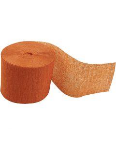 Krepppapier-Streifen, L: 20 m, B: 5 cm, Orange, 20 Rolle/ 1 Pck.