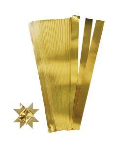 Papierstreifen für Fröbelsterne, L: 45 cm, D: 6,5 cm, B: 15 mm, Gold, 100 Streifen/ 1 Pck.