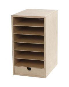 Papier-Container , H: 31,5 cm, B: 18 cm, A5, 1 Stck.