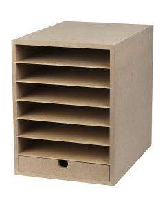 Papier-Container , H: 31,5 cm, B: 24,3 cm, A4, 1 Stck.