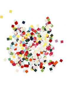 Karton-Mosaik, Quadrat, Größe 10x10 mm, 180 g/ 1 Pck.
