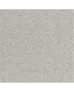 Glitzerfolie, B: 35 cm, Stärke: 110 my, Silber, 2 m/ 1 Rolle