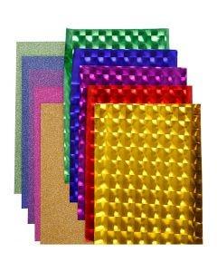 Dekofolie - Sortiment, B: 35 cm, Stärke: 30+110 my, Sortierte Farben, 10x2 m/ 1 Pck.