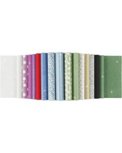Papierblätter mit Glitter, A4, 210x297 mm, 150 g, 30 Bl./ 1 Stck.