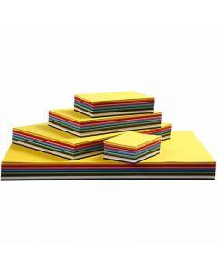 Farbkarton, A3,A4,A5,A6, 180 g, Sortierte Farben, 1500 Bl. sort./ 1 Pck.