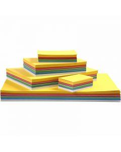 Karton in sortierten Farben, A2,A3,A4,A5,A6, 180 g, Sortierte Farben, 1800 Bl. sort./ 1 Pck.