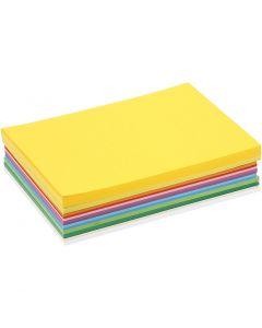 Karton in sortierten Farben, A5, 148x210 mm, 180 g, Sortierte Farben, 300 Bl. sort./ 1 Pck.