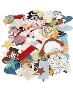 Stanzformen aus handgeschöpftem Papier - Sortiment, Größe 25-130 mm, 110 g, 100 g/ 1 Pck.