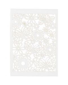 Karton mit Spitze, 10,5x15 cm, 200 g, Weiß, 10 Stck./ 1 Pck.