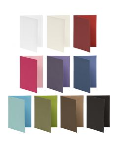 Briefkarte, Kartengröße 10,5x15 cm, 250 g, Sortierte Farben, 30 Pck./ 1 Pck.