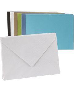 Farbige Kuverts, Umschlaggröße 11,5x16 cm, Inhalt kann variieren , 100 g, 100 Stck./ 1 Pck.