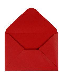 Kuvert, Umschlaggröße 11,5x16 cm, 110 g, Rot, 10 Stck./ 1 Pck.