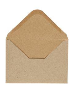Kuvert, Umschlaggröße 11,5x16 cm, 110 g, Natur, 10 Stck./ 1 Pck.