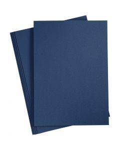 Karton, A4, 210x297 mm, 220 g, Blau, 10 Stck./ 1 Pck.