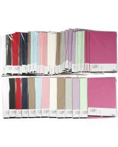 Karton, A4, 210x297 mm, 220 g, Sortierte Farben, 12x10 Pck./ 1 Pck.
