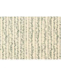 Karton, Musiknoten, A4, 210x297 mm, 180 g, 10 Bl./ 1 Pck.