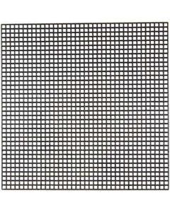 Stickmatten, Größe 14x14 cm, Lochgröße 3x3 mm, Schwarz, 5 Bl./ 1 Pck.