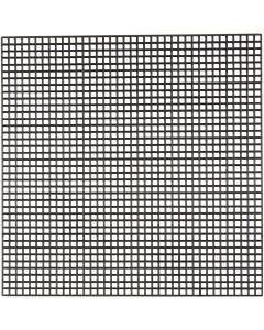 Stickmatten, Größe 14x14 cm, Lochgröße 3x3 mm, Schwarz, 50 Bl./ 1 Pck.