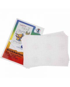 Stickkarton, 3x3 Löcher pro cm , 300 g, Weiß, 10 Bl./ 1 Pck.