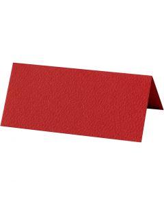 Tischkarten, Größe 9x4 cm, 220 g, Rot, 10 Stck./ 1 Pck.