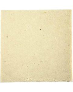 Handgeschöpftes Papier, 20x20 cm, 70 g, Naturweiß, 10 Bl./ 1 Pck.