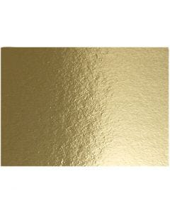 Metallic-Folienkarton, A4, 210x297 mm, 280 g, Gold, 10 Bl./ 1 Pck.