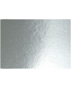 Metallic-Folienkarton, A4, 210x297 mm, 280 g, Silber, 10 Bl./ 1 Pck.
