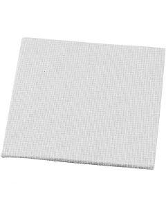 Leinwandplatte, Größe 10x10 cm, 280 g, Weiß, 1 Stck.