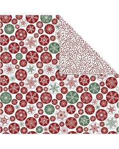 Design-Papier, Eiskristalle / Punkte, 30,5x30,5 cm, 180 g, 5 Bl./ 1 Pck.