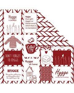 Design-Papier, Hygge / Strickmuster, 30,5x30,5 cm, 180 g, 5 Bl./ 1 Pck.