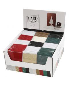 Karten & Kuverts im Set mit Display, Kartengröße 10,5x15 cm, Umschlaggröße 11,5x16,5 cm, 120 Set/ 1 Pck.