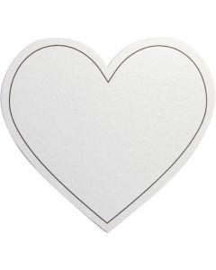 Herz, Größe 75x69 mm, 120 g, Weiß, 10 Stck./ 1 Pck.